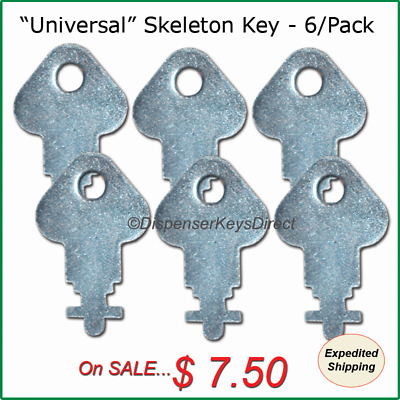 """Universal"" Skeleton Key for Paper Towel, Toilet Tissue Dispensers - (6/pk.)"