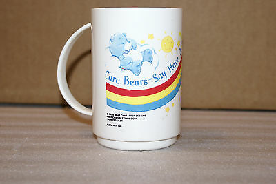 Vintage 1985 Pizza Hut Care Bears Plastic Coffee Cup Mug
