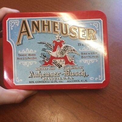 Anheuser-Busch Brewing Company Classic Playing Cards (2 Decks) & Tin Case 1991