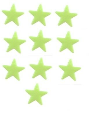 50 x Glow In The Dark Stars Kids Room Toy Stick On Ceiling Gift 2.5cm Green