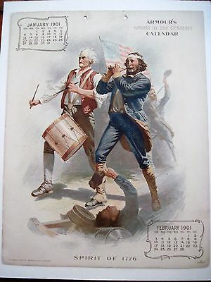 """1901 Advertising Calendar for """"Armour Meats"""" Titled  """"Spirit Of The Century"""" *"""