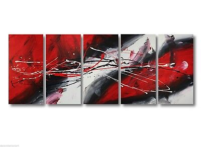 Abstract art canvas painting    red black white. Wall art paintings Australia