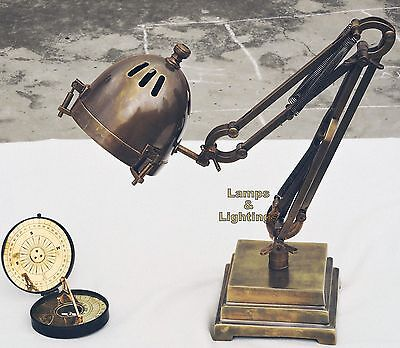 ANCIENT Vintage Industrial Machine Desk Lamp Side Table Lighting Home Decor • CAD $126.48