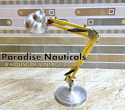Nautical Brass Wooden Tripod Floor Lamp,designer Studio Table/desk Lamp Light.# • CAD $48.48