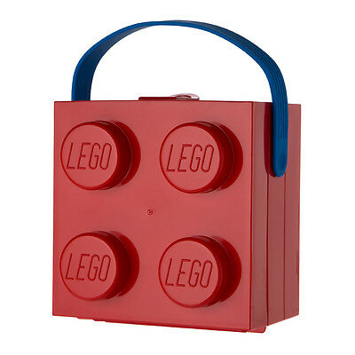 NEW Lego Red Lunch Box with Carry Handle