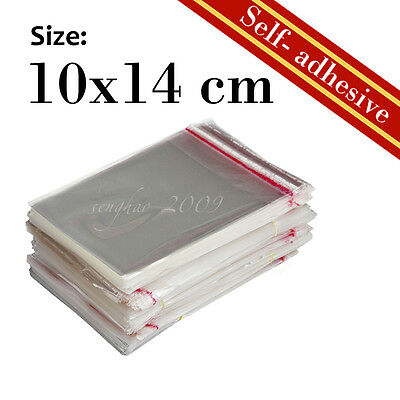 360Pcs New Self-Adhesive Cellophane Clear Resealable Plastic Bag 10x14cm  Size