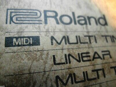 ROLAND D50 D-550 Linear 2500 Patches Sons PROG SOUNDS Library synthetiseur .syx