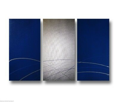 3 ABSTRACT CANVAS PAINTING blue silver. Modern wall art artwork Australia  sc 1 st  PicClick & 3 ABSTRACT CANVAS PAINTING blue silver. Modern wall art artwork ...