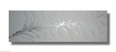 ABSTRACT CANVAS PAINTING  white silver. Modern wall art Australia