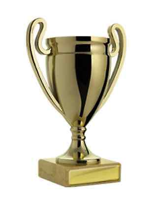 Gold Plastic Cup Winner Achievement Award Trophy 165mm FREE Engraving