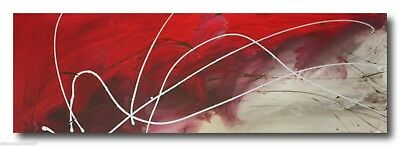 ABSTRACT CANVAS PAINTING red brown white. Modern wall art artwork Australia