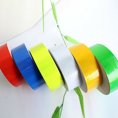 3M 10M 25M 38M Reflective Safety Warning Conspicuity Tape Sticker Roll Strip