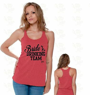 Bride's Drinking Team Bachelorette Party Bride To Be Racerback TANK TOP CA3