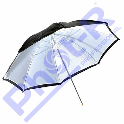 "Phot-R Professional 33""/83cm 2-in-1 Black/White Studio Collapsible Umbrella"