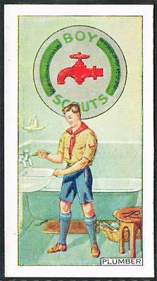 1939 CWS Boy Scout Badges, Cigarette/Tobacco card, No. 37, Plumber