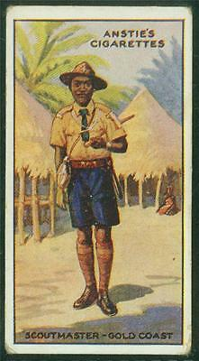 1923 Anstie's Scout Series, Tobacco card, No 44, Scoutmaster - Gold Coast