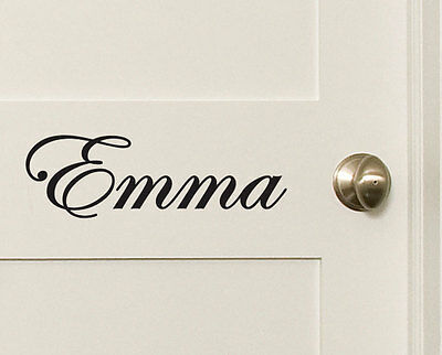 Custom Name Wall Door Sticker Personalized Text Words Removable Decal 10~200cm