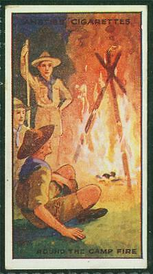 1923 Anstie's Scout Series, Tobacco card, No 27, Round the Camp Fire