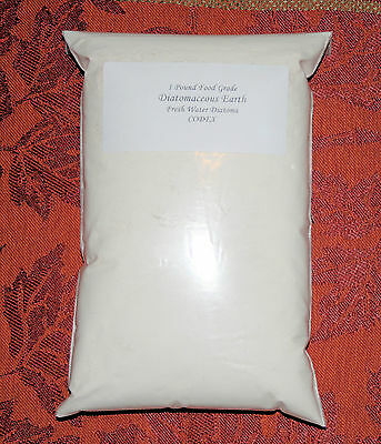 1 lb / 16 oz Perma-Guard Pure 100% Food Grade Diatomaceous Earth White CODEX DE