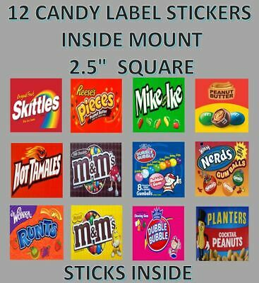 12 INSIDE MOUNT 2.5 x 2.5 Bulk Vending Labels