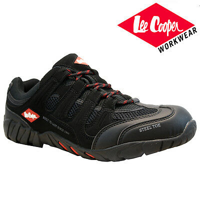 Mens Lee Cooper Leather Safety Work Boot Steel Toe Cap Shoes Trainers Hiker Size
