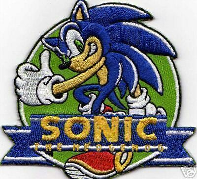 Sonic The Hedgehog Iron On Patch $4-95 Buy 2 Get 1 Free
