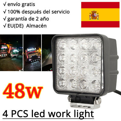 4 X 48W 16 LED Work Light Flood Offroad SUV Jeep Boat ATV 4WD 12V 24V Waterproof