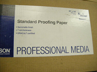 """Epson Standard Proofing Paper  S045081 36""""x164' Brand New"""