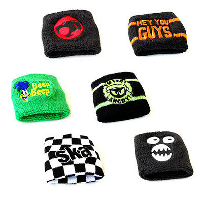 Wristband Sweatband - Various Designs Retro Cool Fashion Accessory Sports