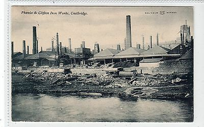 PHOENIX & CLIFTON IRON WORKS, COATBRIDGE: Lanarkshire postcard (C18519)