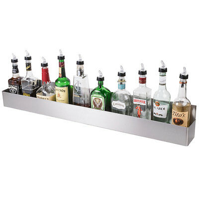 "42"" Silver Stainless Steel Single Tier Commercial Bar Speed Rail Rack"