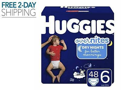 New 42 Count Huggies Overnites Diapers Size 6 Toddlers Best Overnight Absorbent