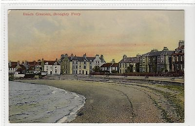BEACH CRESCENT, BROUGHTY FERRY: Angus postcard (C18324)