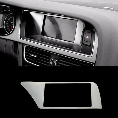 Interior Navigation Panel Decal Cover Trim For Audi A4 B8 Stainless Steel Strip