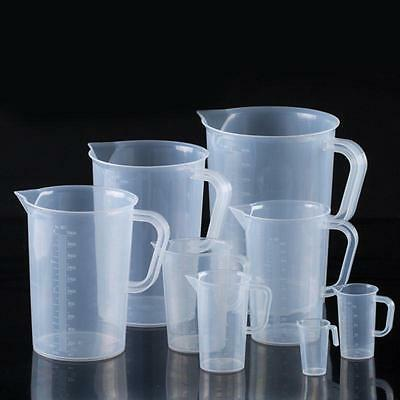 New Measuring Jug Clear Plastic Baking Kitchen Set Flour Sugar Water 250ml~2L