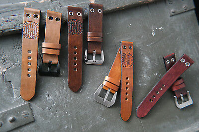 """Genuine Leather """"SQUAD  303""""  Band  for Vintage or Modern  Style  Aviator  Watch"""