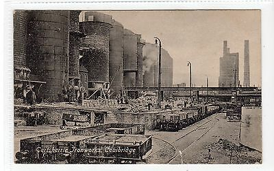 GARTSHERRIE IRONWORKS, COATBRIDGE: Lanarkshire postcard (C18176)