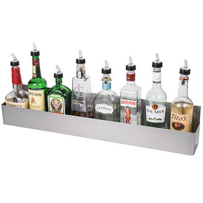 "32"" Silver Stainless Steel Single Tier Commercial Bar Speed Rail Rack"