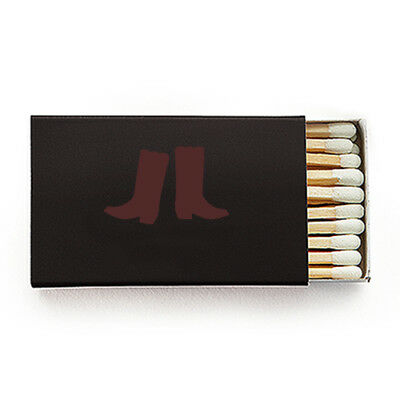 50 Cowboy Boot Printed Matchboxes With Wooden Matches Party Favor Wedding