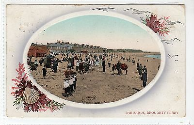 THE SANDS, BROUGHTY FERRY: Angus postcard (C18301)