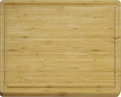 Vance 12 in. x 15 in. 3/5 inch Bamboo Grooved Cutting Board | 81215B