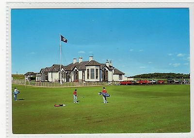ELIE GOLF CLUB HOUSE: Fife postcard (C17684)