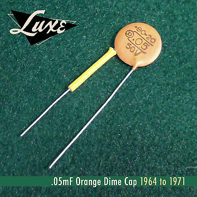 1964-71 Luxe Ceramic Disk .05mF Orange Dime Cap
