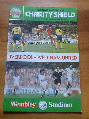 Liverpool v West Ham United Charity Shield 09/08/1980