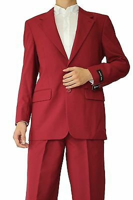 Men's Classic 2 button Single Breasted Suit Burgundy (comes with pants) #702P