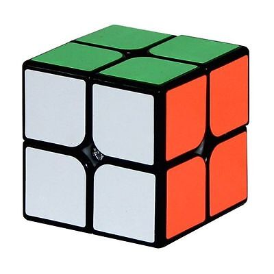 GJ Games Guanpo YJ 2x2 Speed Cube Puzzle Black 50mm