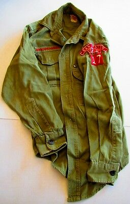 Vintage 1960's Boy Scout Uniform Shirt Pants  Boys Size? Patches San Mateo Calif