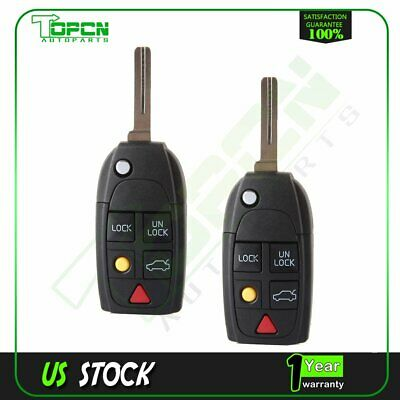 2XRemote Key Keyless Entry Shell Case Fob 4 Buttons for Ford PG730B Uncut Blade