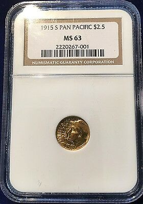 1915 S G$1 Panama Pacific  NGC MS63 (Error on NGC Holder)