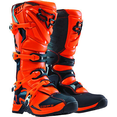 New 2017 Fox Racing Comp 5 Mx Offroad Boots Orange All Sizes Reed Dungey Roczen